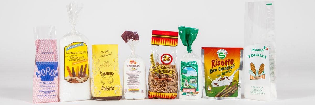Sacchetti per alimenti secchi, pasta, riso e farine