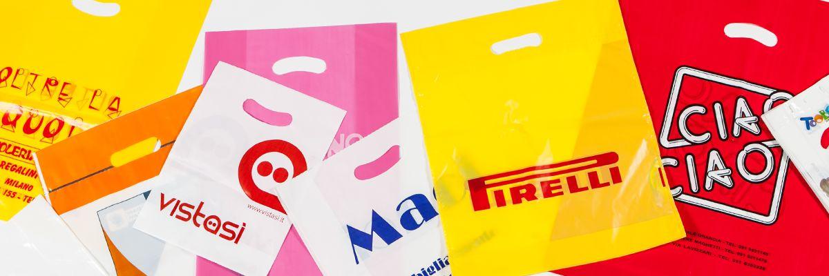 Shoppers personalizzate con Maniglia a Fagiolo