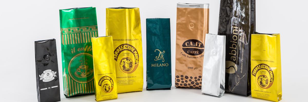 Caffè in grani o macinato? Ecco materiali e tecniche per il suo packaging